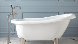 What are Modern Bathtubs Made Of Hattie Acrylic Slipper Tub Modern Feet Bathroom