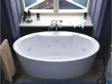 What is A Jetted Bathtub Poussin 34 X 68 Oval Freestanding Air & Whirlpool Water