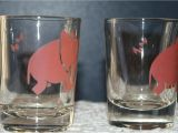 Where to Buy Decorative Shot Glasses Vintage Barware Federal Glass Co Pink Elephant Double Shotglasses