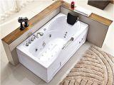 Whirlpool Bathroom Heater 60 Inch White Bathtub Whirlpool Jetted Bath Hydrotherapy