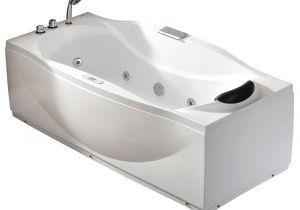 Whirlpool Bathtub Bacteria 6 Ft Left Drain Acrylic White Whirlpool Bathtub W Fixtures