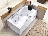 """Whirlpool Bathtub for Sale 60"""" White Bathtub Whirlpool Jetted Hydrotherapy 19 Massage"""