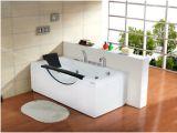 Whirlpool Bathtub Heater 1600mm Whirlpool Bath Shower 16 Jet Jacuzzi Straight