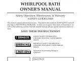 Whirlpool Bathtub Instructions Whirlpool Maax Pearl Hot Tub User Manual
