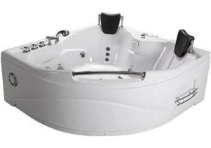 Whirlpool Bathtub Jet Spa 2 Person Bathtub White Corner Fitting Unit Jetted