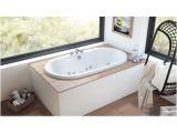 """Whirlpool Bathtub Undermount Jacuzzi Mio6636wcr4chy Oyster Mio 66"""" Whirlpool Bathtub"""