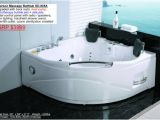 Whirlpool Bathtubs with Heaters 2 Person Whirlpool White Corner Bathtub Spa with 11