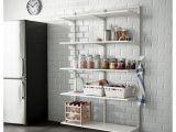 White Bakers Rack Ikea Algot Wall Upright Shelf and Triple Hook White Ikea Algot