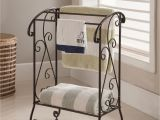 White Wall Mounted Quilt Rack Coffee Brown Metal Free Standing Kitchen Bathroom towel Quilt