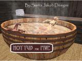 Wide Bathtubs for Sale Second Life Marketplace Bathtub Barrel Hot Tub with
