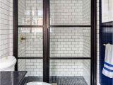 Window Pane Shower Door Black Glass Paneled Shower Door Evars anderson Design