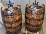 Wine Barrel Bathtub Whiskey Barrel Sink 1 2 Flat Back Hammered Copper Rustic Antique