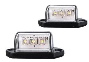 Wireless Trailer Lights 12v 3leds Number Licence Plate Light Rear Tail Lamp Truck Trailer