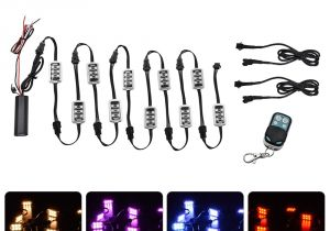 Wireless Trailer Lights Aliexpress Com Buy Bjmoto 50w 12v 10 Pods Rgb Rock Lights 60 Led