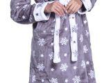 Women's Bathrobe Price Zeta Ville Women S Hooded Bathrobe Fleece Midi Robe Long