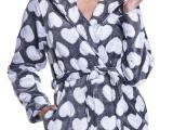 Women's Bathrobes Fleece Zeta Ville Women S Hooded Bathrobe Fleece Midi Robe Long