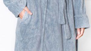 Women's Bathrobes Zipper Front Women S Fleece Robe with Hood Satin Trim Short Spa