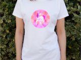 Women's Novelty Bathrobes Geometric Pink Unicorn Fantasy Women S Novelty T Shirt