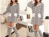 Women's Warm Bathrobes Robe for Women Bathrobe Winter Warm Kimono Coral Fleece