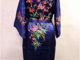 Women's White Bathrobes Blue Black Red White Chinese Silk Women S Kimono Robe Gown