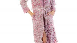 Womens Bathrobes Walmart Casual Nights Women S Jacquard Print Fleece Plush Robe