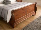 Wood Ottoman Bed Louie Dark Wooden Sleigh Bed Dark Wood Wooden Beds Beds
