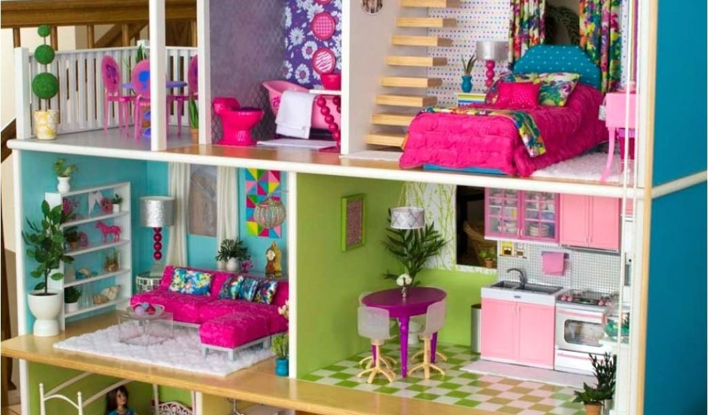 Wooden Barbie Dollhouse Plans Diy Dollhouse My Diys Pinterest Diy