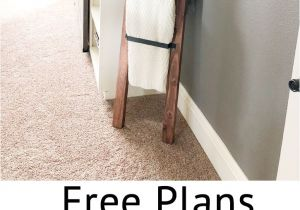Wooden Blanket Rack Plans Barn Door Pull Blanket Ladder Diy Barn Door Blanket Ladder and
