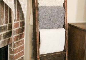 Wooden Blanket Rack Plans Diy Blanket Ladder Just 12 for This Super Easy Wooden Ladder