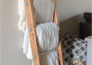 Wooden Blanket Rack Plans Diy Wood and Metal Pipe Blanket Ladder Shanty 2 Chic
