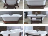 Wooden Foot Bathtub Wooden Cradle Feet for A Clawfoot Tub that Needs to Be