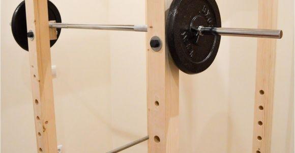 Wooden Squat Rack Designs Homemade Diy Power Rack Iron Add