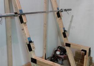 Wooden Squat Rack Diy Squat Rack Garage Ideas Pinterest Squat Bench and Homemade