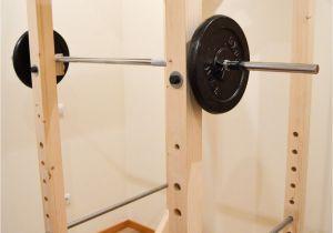 Wooden Squat Rack Homemade Diy Power Rack Iron Add