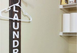 Wooden Standing Coat Rack Laundry Room Sign Laundry Room organization Clothing Rack Wood