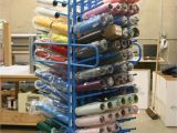 Wooden Vinyl Roll Rack 23 Rolling Storage Rack Rustic Storage Racks Storage Racks for Vinyl