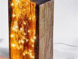 Woods Lamp Eye Wood and Resin Light Block Light Resin Reclaimedwood Fairylights