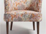 World Market Blue Accent Chair Botanical Evelynn Upholstered Accent Chair