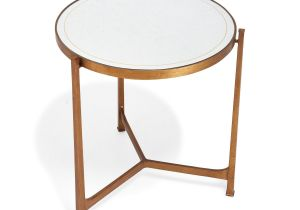 Wrought Iron End Tables Living Room with A Warm Antique Aesthetic the Distressed églomisé Glass top is