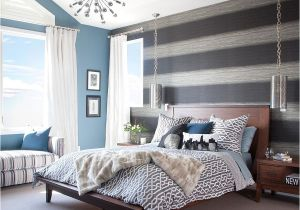 Yellow And Grey Bedroom Walls Accents Accent Wall Wallpaper