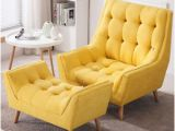 Yellow Green Accent Chair Fy button Tufted Relaxing sofa Upholstered Accent Chair