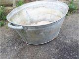 Zinc Bathtubs Vintage Retro Antique Galvanised Metal Zinc Tin Bath Wash